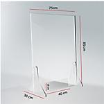 Schermo parafiato plexiglass 75 x 85 cm