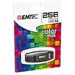 Memoria USB 3.0 EMTEC C410 256 gb nero