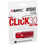 Memoria USB 3.0 EMTEC B100 Click Fast 256 gb rosso
