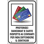 Cartello segnalatore bancomat o carte Alluminio 20 x 30 cm