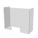 Schermo parafiato da banco con protezioni laterali 80 x 75 cm