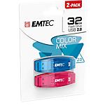 Flash drive EMTEC USB 2.0 32 gb assortiti 2 unità