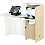 Postazione reception con bancone sinistra Artexport Concept Bianco, rovere 1.430 x 830 x 1.170 mm