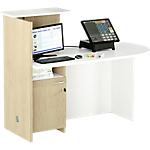 Postazione reception con bancone destra Artexport Concept Bianco, rovere 1.430 x 830 x 1.170 mm