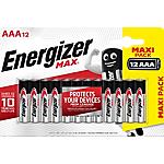 Batterie Mini stilo Energizer Max AAA x 12 + Max Plus AAA x4