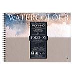 Blocco spiralato Fabriano 24 x 32 cm 12fg 300gr Watercolour Torchon bianco