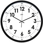 Orologio da parete CEP Silent Clock Orion 40 cm bianco, nero