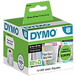 Etichette multiuso DYMO Multifunzione LW 11354 32 x 57 mm bianco 1000 etichette