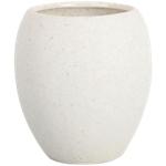 Bicchiere porta spazzolini King's Collection bianco linea Stone