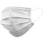Mascherine filtranti per adulti 98% a 3 veli  TIPO IIR con elastici bianco 50 unità