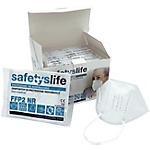 Mascherina filtrante SAFETYSLIFE FFP2 NR LZY03 Tessuto non tessuto elastico Bianco 25 unità