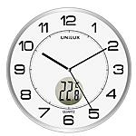 Orologio da parete Unilux Tempus diametro 30,5 cm con termometro bianco