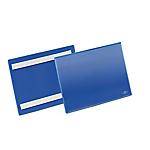 Buste identificative con bande adesive Durable formato A5 orizzontale (210x148 mm) confezione da 50 pezzi