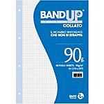 Blocco BandUp A4 collato fori rinforzati quadretto 4mm 40fg 90gr BM