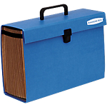 Organizer espandibile Fellowes Bankers Box Handyfile A4 blu cartoncino robusto