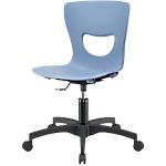 Sedia girevole Home Office UNISIT PTG Plastica azzurro
