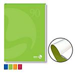 Blocco notes BM90 A4 collato lato corto quadretti 10mm 80fg 90gr copertina 250gr BM