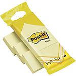 Foglietti mini Post it Giallo Canary 38 x 51 mm 3 unità da 100 fogli