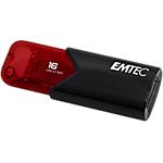 Chiavetta USB 3.2 GEN 1 EMTEC Click Easy 16 gb nero, rosso