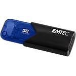Chiavetta USB 3.2 GEN 1 EMTEC Click Easy 32 gb nero, blu