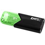 Chiavetta USB 3.2 GEN 1 EMTEC Click Easy 64 gb nero, verde