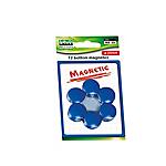 Bottoni magnetici Lebez blu diametro 20 mm 12 unità