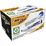 Marcatore per lavagne bianche BIC Velleda 1701 punta rotonda 1.5 mm nero 12 unità