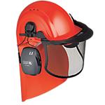 Elmetto per forestale Honeywell Kit Plastica rigida agricoltura, silvicoltura, industria chimica rosso