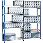 Ripiani aggiuntivi Paperflow P34 blu e argento 1.000 mm 2 unità