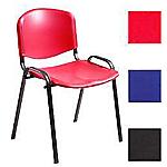 Sedia impilabile rosso