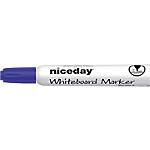 Marcatore per lavagna bianca Niceday WBM2.5 a punta tonda blu 12 unità
