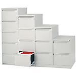 Classificatore Bisley per cartelle sospese 4 cassetti cassetti argento