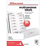 Etichette multifunzione Office Depot Straight corners Bianco 1400 etichette 100 Fogli