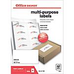 Etichette multifunzione Office Depot Just corners Bianco 1000 etichette 100 Fogli