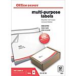 Etichette multifunzione Office Depot Just corners Bianco 100 etichette 100 Fogli