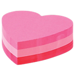 Note a cuore Post it 70 x 70 mm 225 fogli