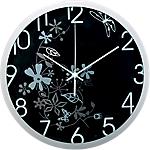 Methodo orologio da parete Flower 30,5 x 30,5 x 30,5 x 5 cm grigio nero