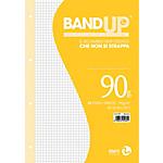 Ricambi rinforzati BM BandUP Bianco A quadretti 4 fori A4 29,7 x 21 cm 90 g