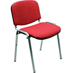 Sedia per sala d'attesa Classic rosso