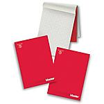 Blocchi Pigna Master A4 Rosso A quadretti 29,7 (h) x 21 (l) cm microperforazione 90 g
