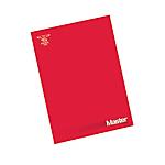 Blocco Pigna Master A4 Rosso Senza Rigatura 29,7 (h) x 21 (l) cm senza perforazione 90 g