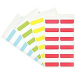 Indici adesivi 3L Assortito senza rigatura non perforato 12 x 40 mm 1,2 x 4 cm 48 unità