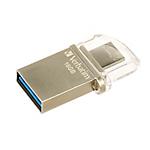 Pen Drive Verbatim Store 'n' Go OTG Micro 16GB argento plastica, metallo 5,4 (h) x 14,9 (l) mm