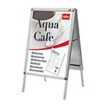 Cornice a scatto cavalletto Nobo Outside Premium Plus A2 Argento 475 x 70 x 890 mm