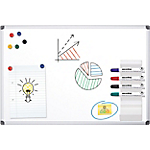 Lavagna bianca Office Depot Standard acciaio magnetico 90 x 60 cm