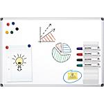 Lavagna bianca Office Depot Standard Acciaio magnetico 120 x 90 cm