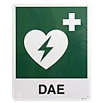 Cartello per defibrillatore PVS Alluminio 25 x 31 cm