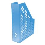 Portariviste HAN Forato blu trasparente plastica 7,6 (l) x 24,8 (p) x 32 (h) cm Documenti in formato A4