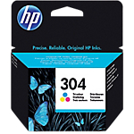 Cartuccia inchiostro HP originale 304 ciano, magenta, giallo N9K05AE