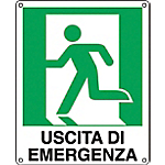 Cartelli Segnalatori Uscita di emergenza a sinistra 31 x 25 cm